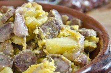 Lampascioni salsiccia e uova