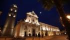 Melfi, vista notturna del Duomo e del campanile